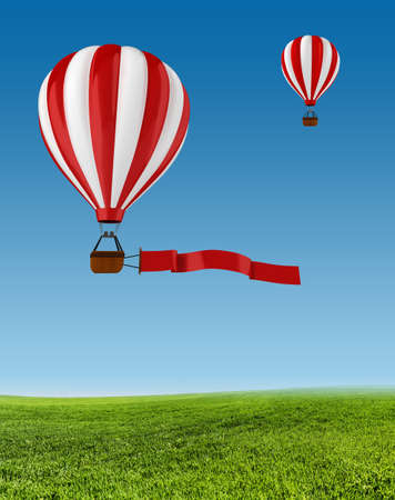 3d colorful hot air balloon photo