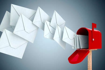mails: 3d envelope and mail box