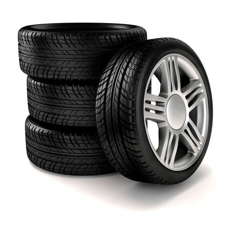 3d tire and alloy wheel  photo