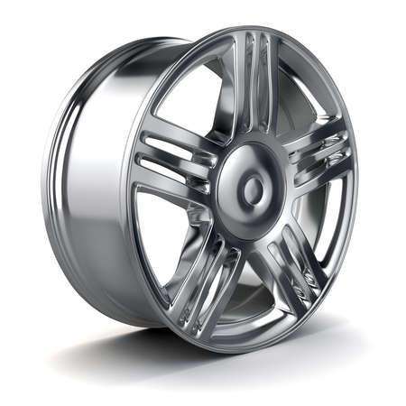 alloy wheel: 3d alloy wheel Stock Photo