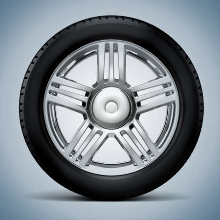 alloy: 3d tire and alloy wheel