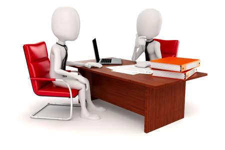 3D Mann Geschäftsmann, Business-Szene