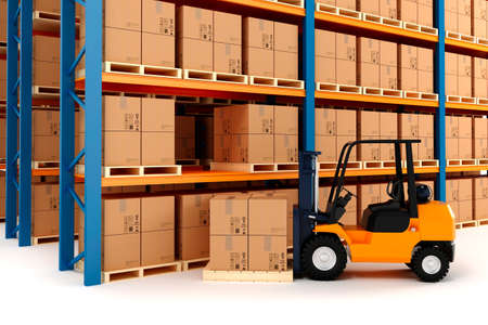 lift truck: 3d warehouse and forklift
