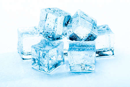 fresh ice cubes photo