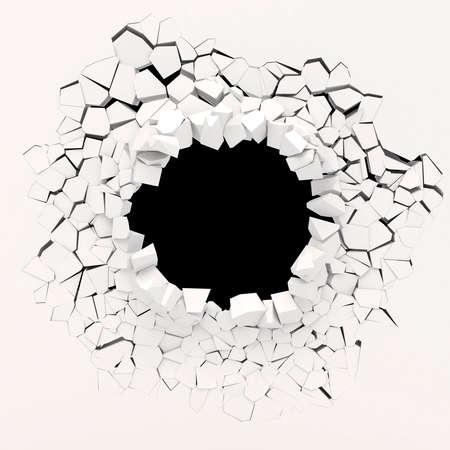 Destruction du mur 3d Banque d'images - 25464706