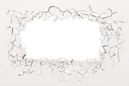 3D Wand Zerstörung Lizenzfreie Bilder