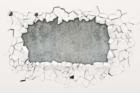 Destruction du mur 3d Banque d'images - 25464713
