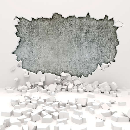 3d wall destruction photo