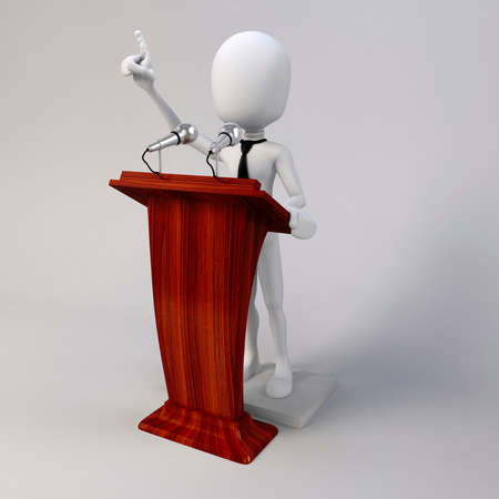 3d man giving speech photo