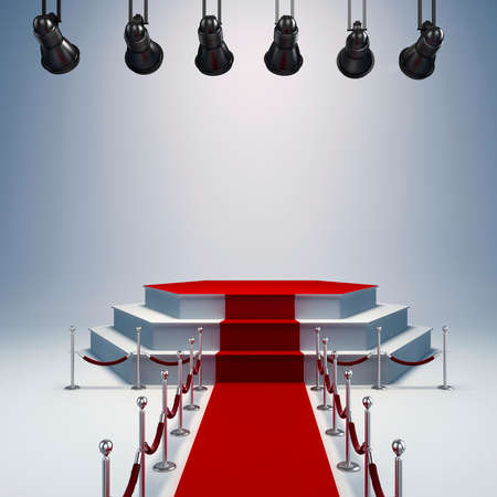 empty stage: 3d spot lights and stage setup
