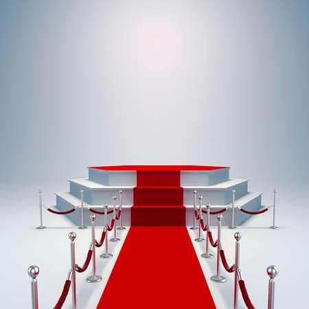 3d podium and red carpet photo