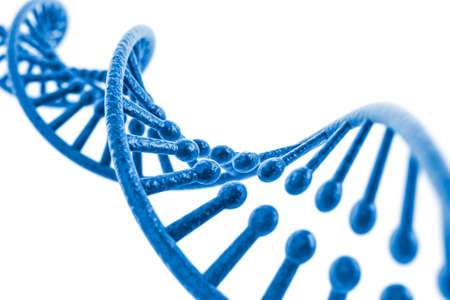 clone: 3d render of dna structure, abstract  background Stock Photo