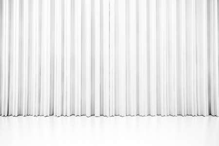 白の 3 d の白いきれいなカーテン 写真素材
