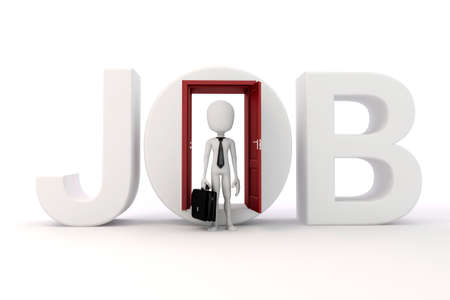 new opportunity: 3d man new job opportunity, economy concept