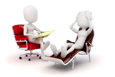 3d man psychologist and patient  스톡 콘텐츠