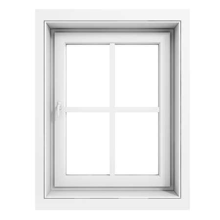3d raamkozijn op een witte achtergrond Stockfoto