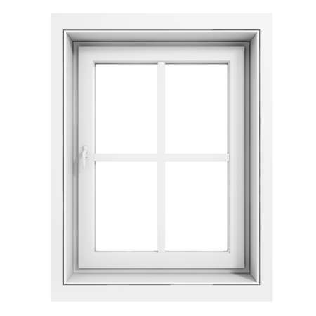 window view: 3d window frame on white background