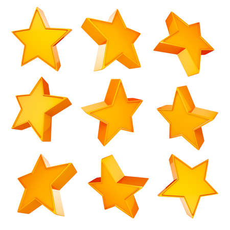 jewell: 3d gold star on white background