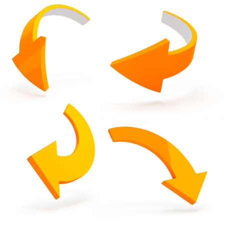 3d arrows on white background photo