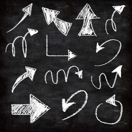 3d set of chalk arrows