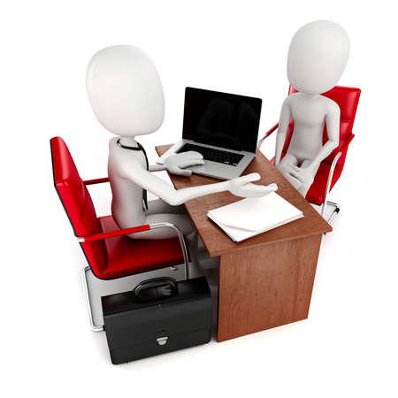 3d man, business meeting, job interview photo