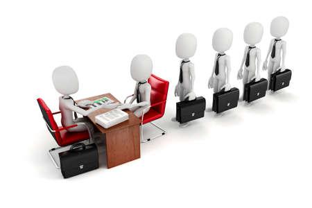 entrevista de trabajo: Hombre 3D, reuni�n de negocios, entrevista de trabajo
