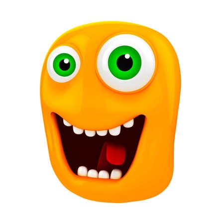 caras de emociones: 3d cara divertida de la historieta