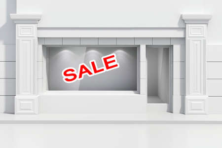 shopfront: 3d store shopfront with big windows Stock Photo