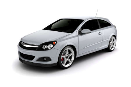 coupe: 3d render of a sport car on white background