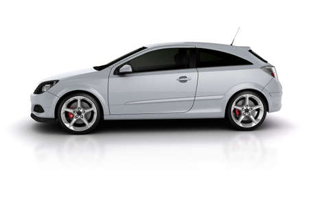 generic: 3d render of a sport car on white background
