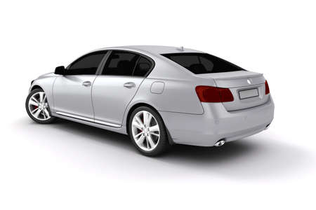 3d render of a luxury car on white background