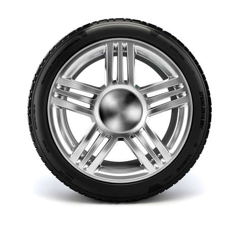 radial tire: 3d tire on white background