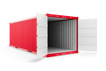 container freight: 3d cargo container on white background