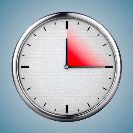 circle: 3d clock, concept