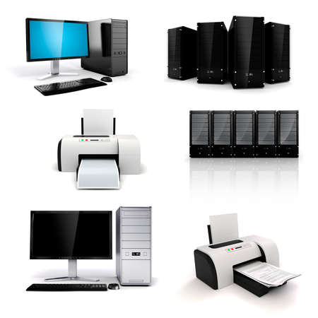 lcd monitor printer: 3d workplace technology equipment