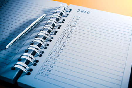 cronogramas: 3d agenda personal en blanco de cerca Foto de archivo