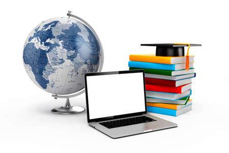 education concept: 3d e-learning, education concept