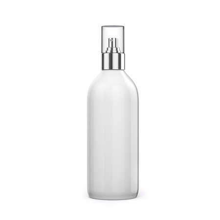 3d blank Sprühflasche auf weißem Hintergrund