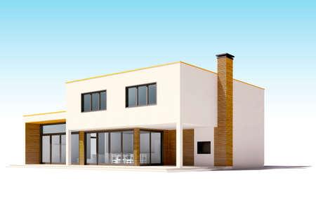 3d Schöne Wohnhaus Machen Photo