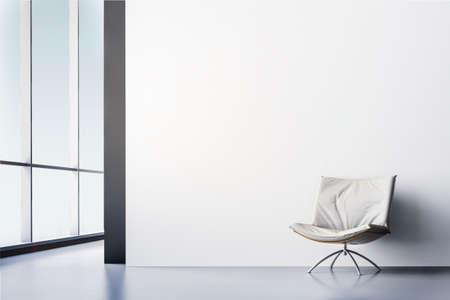 아름다운 현대적인 인테리어 룸의 3D 렌더링