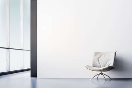 3d render de belle chambre intérieur moderne