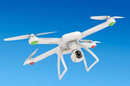 3d flying drone with video camera