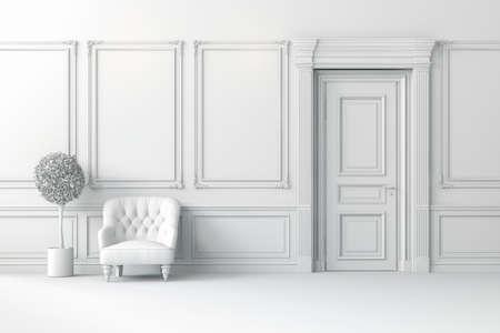 3d render of clean, beautiful interior room