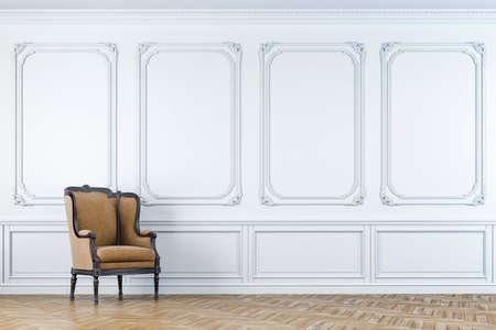 vintage: 3d vintage arm chair interior render Stock Photo