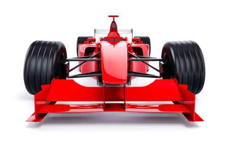 car: 3d f1 race car on white background