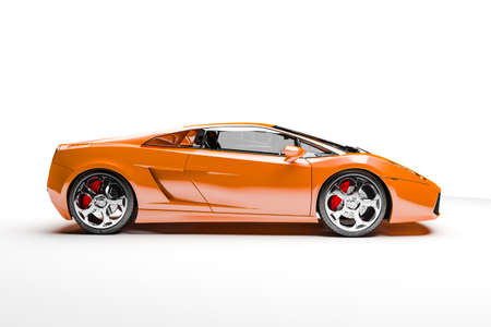 3d sport car on white background Stock Photo