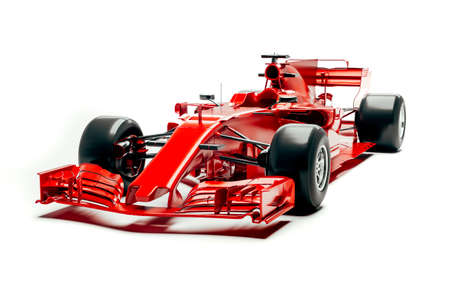 3D F1 raceauto renderen Stockfoto