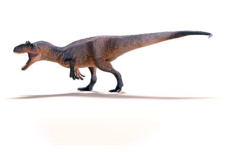 3d Allosaurus render on white background