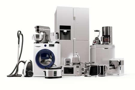 Rendu 3D de l'ensemble de collection d'appareils ménagers