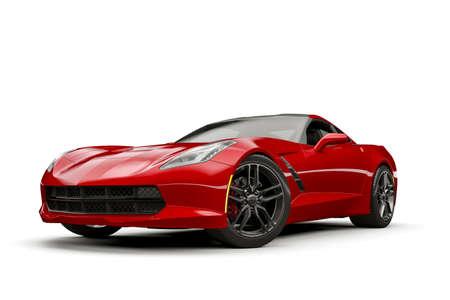 3d render of modern sport car Stock fotó